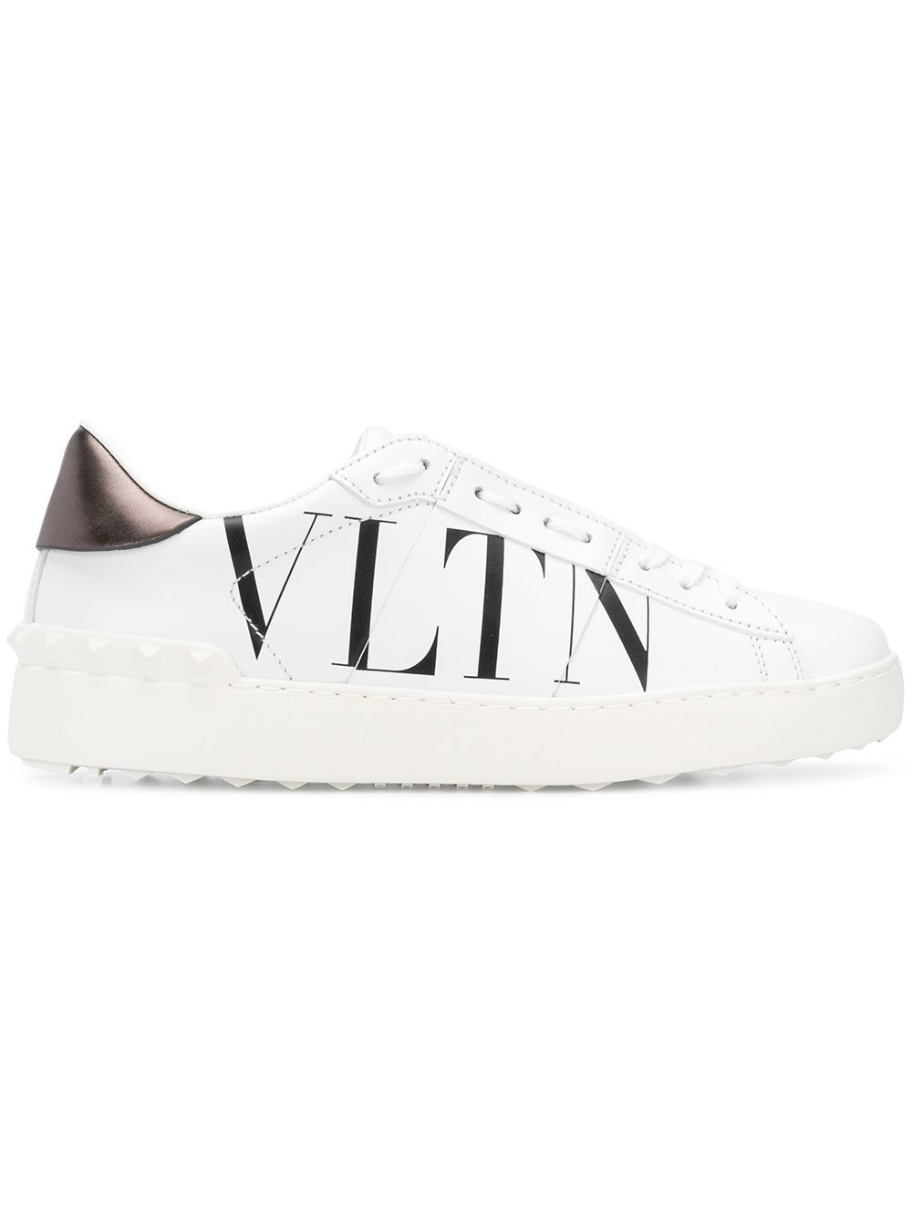 Open Leather Sneakers