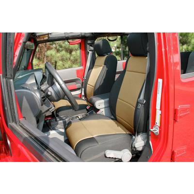 Rugged Ridge Neoprene Seat Cover Kit (Black/Tan) - 13296.04