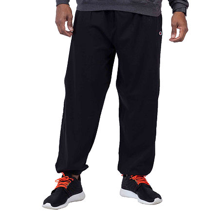 Champion Big and Tall Champion Mens Athletic Fit Pull-On Pants, Large Tall , Black