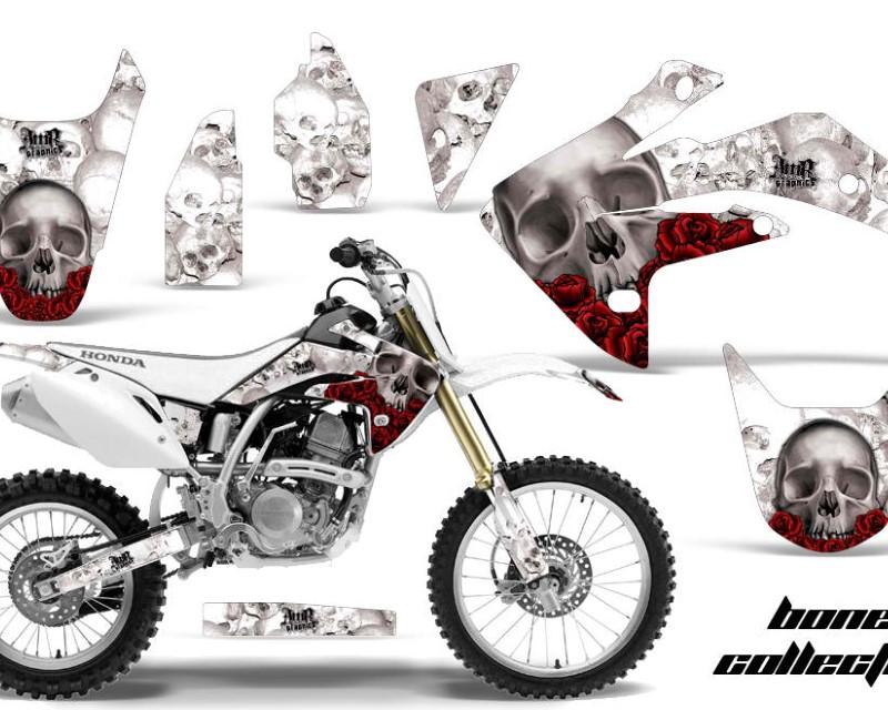 AMR Racing Dirt Bike Graphics Kit Decal Sticker Wrap For Honda CRF150R 2007-2016áBONES WHITE