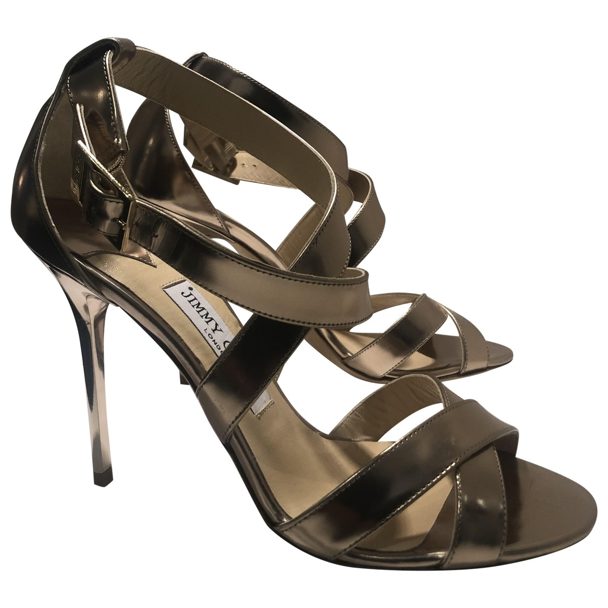 Jimmy Choo \N Gold Leather Sandals for Women 39.5 EU