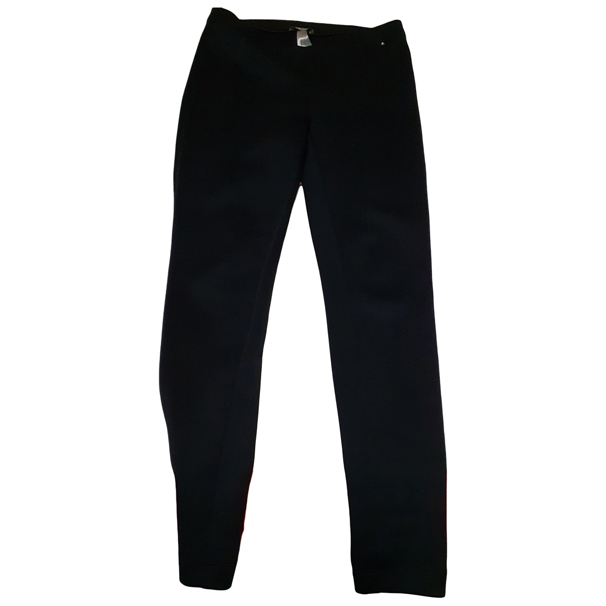 Non Signé / Unsigned \N Black Spandex Trousers for Women 42 FR