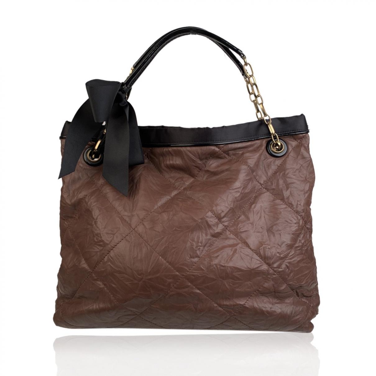 Lanvin Amalia Brown Leather handbag for Women \N