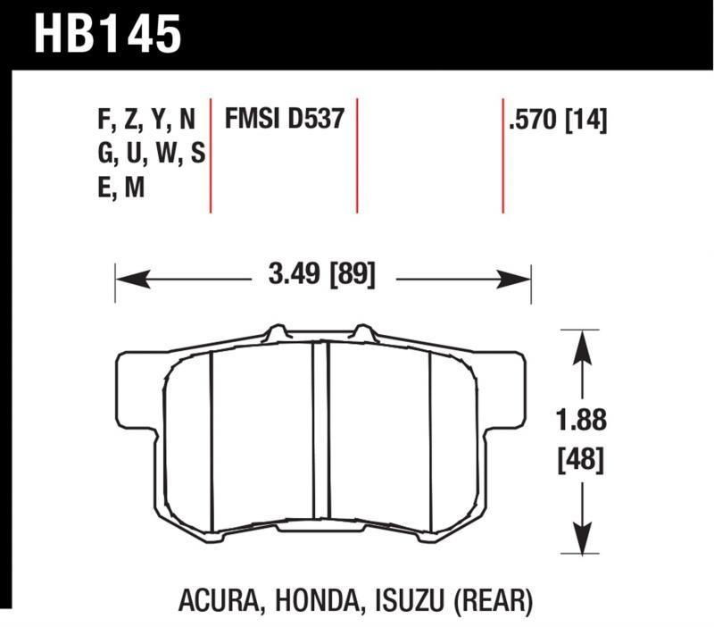 Hawk Performance HB145M.570 Disc Brake Pad Rear