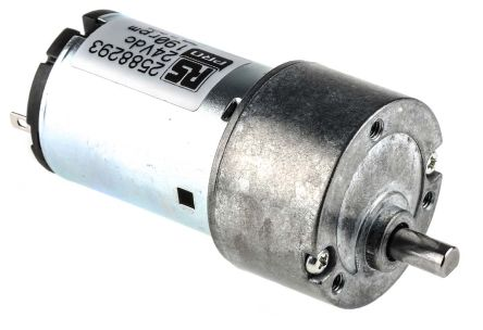 RS PRO , 24 V dc, 10 Ncm DC Geared Motor, Output Speed 190 rpm