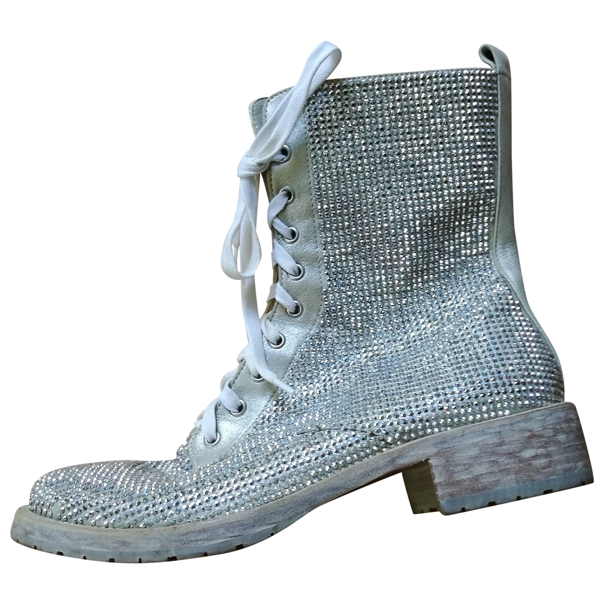 Le Silla \N Silver Leather Ankle boots for Women 39 IT