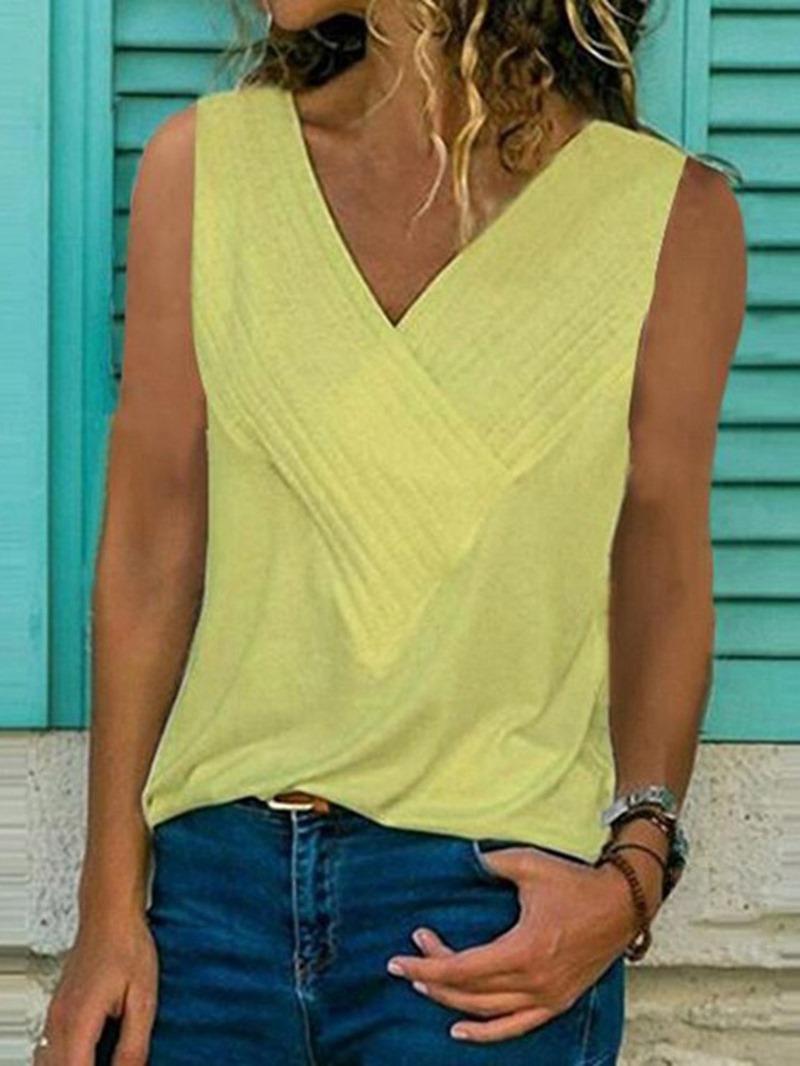 Ericdress Summer Polyester Casual Tank Top