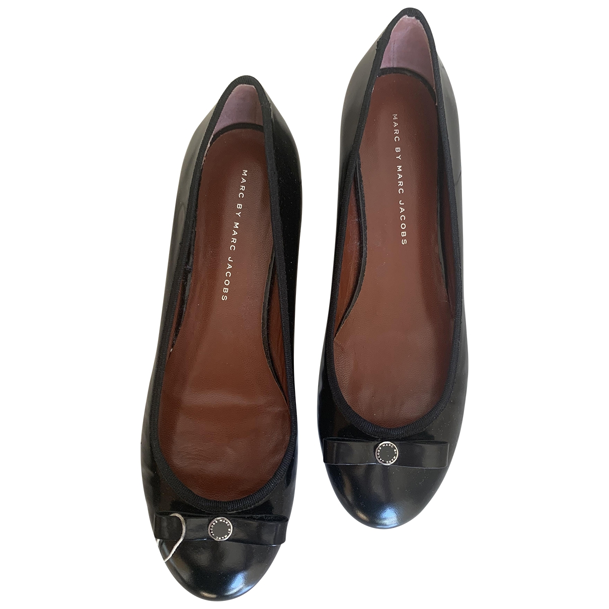 Marc By Marc Jacobs \N Black Patent leather Ballet flats for Women 39 IT