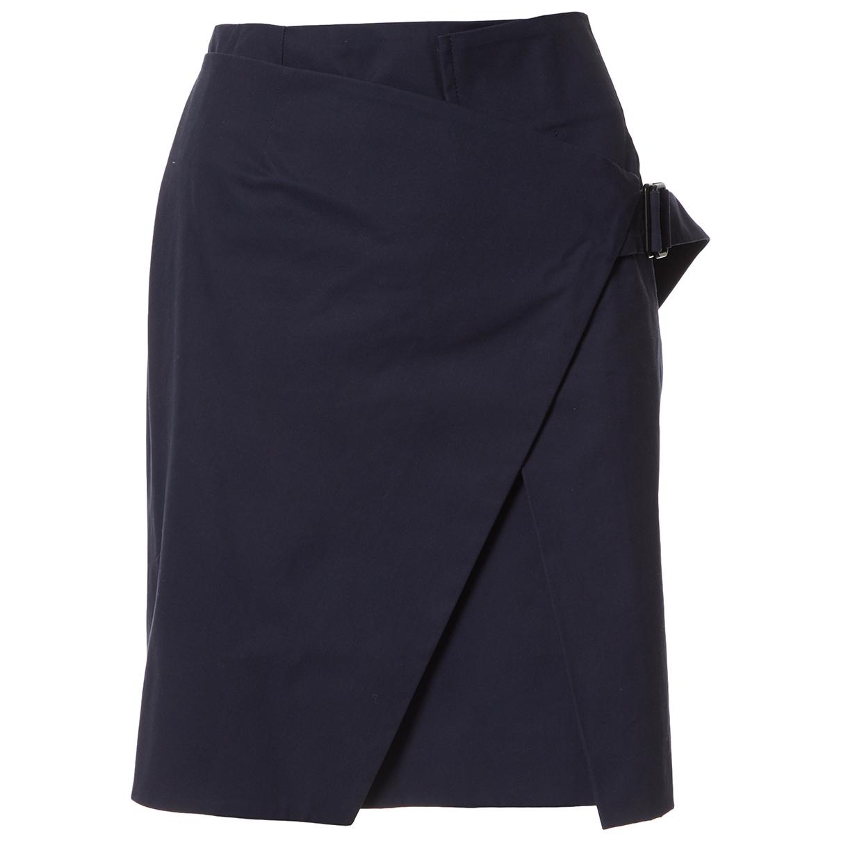 Balenciaga \N Navy Cotton skirt for Women 40 FR