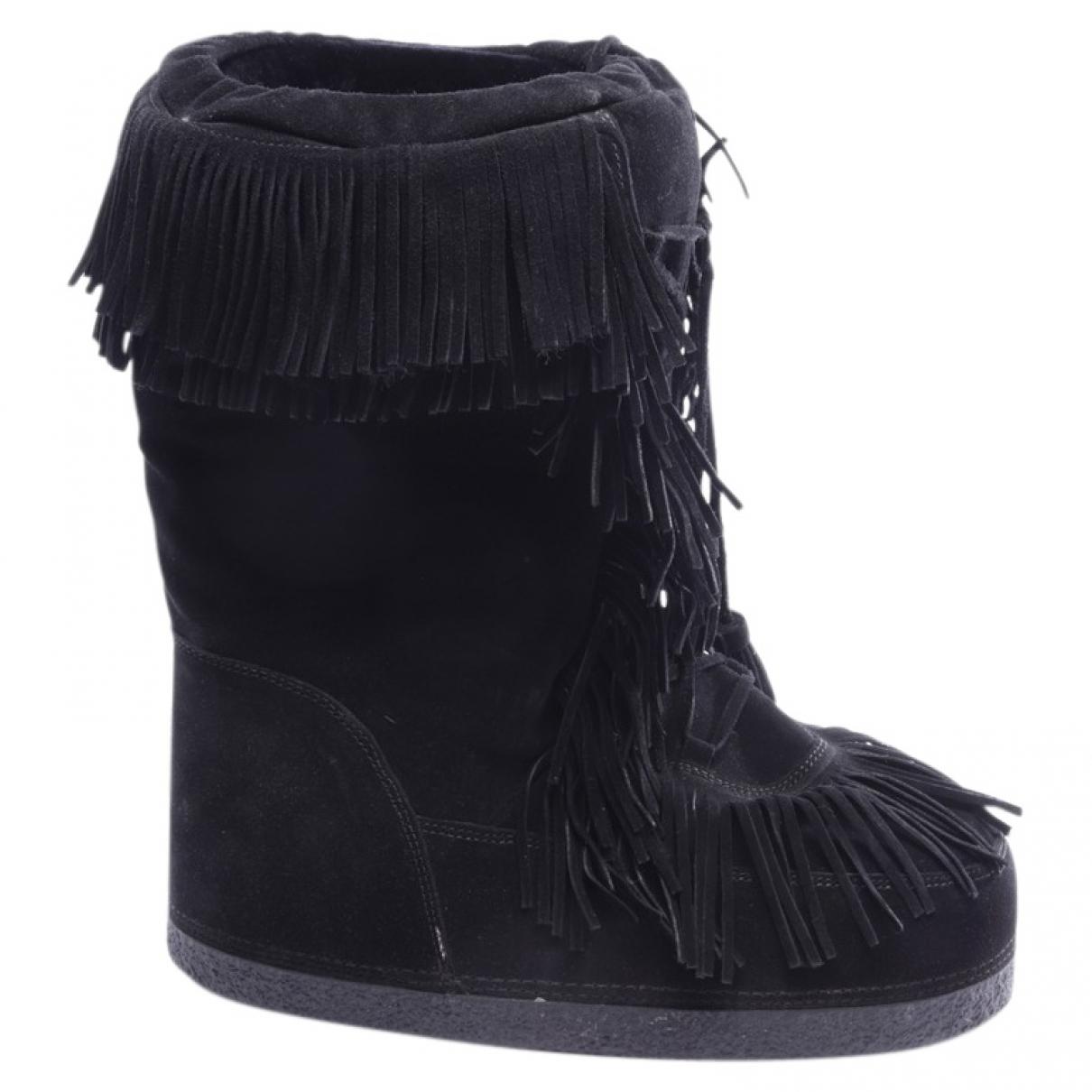 Aquazzura \N Black Leather Boots for Women 41 EU