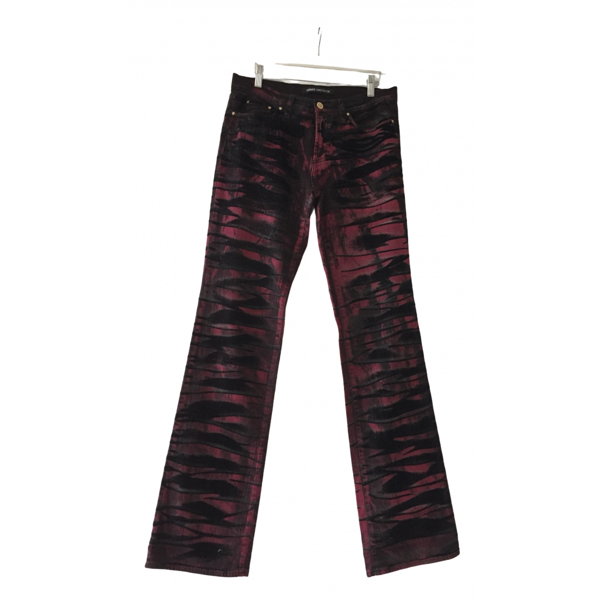 Versace Jeans \N Burgundy Denim - Jeans Trousers for Women 40 IT