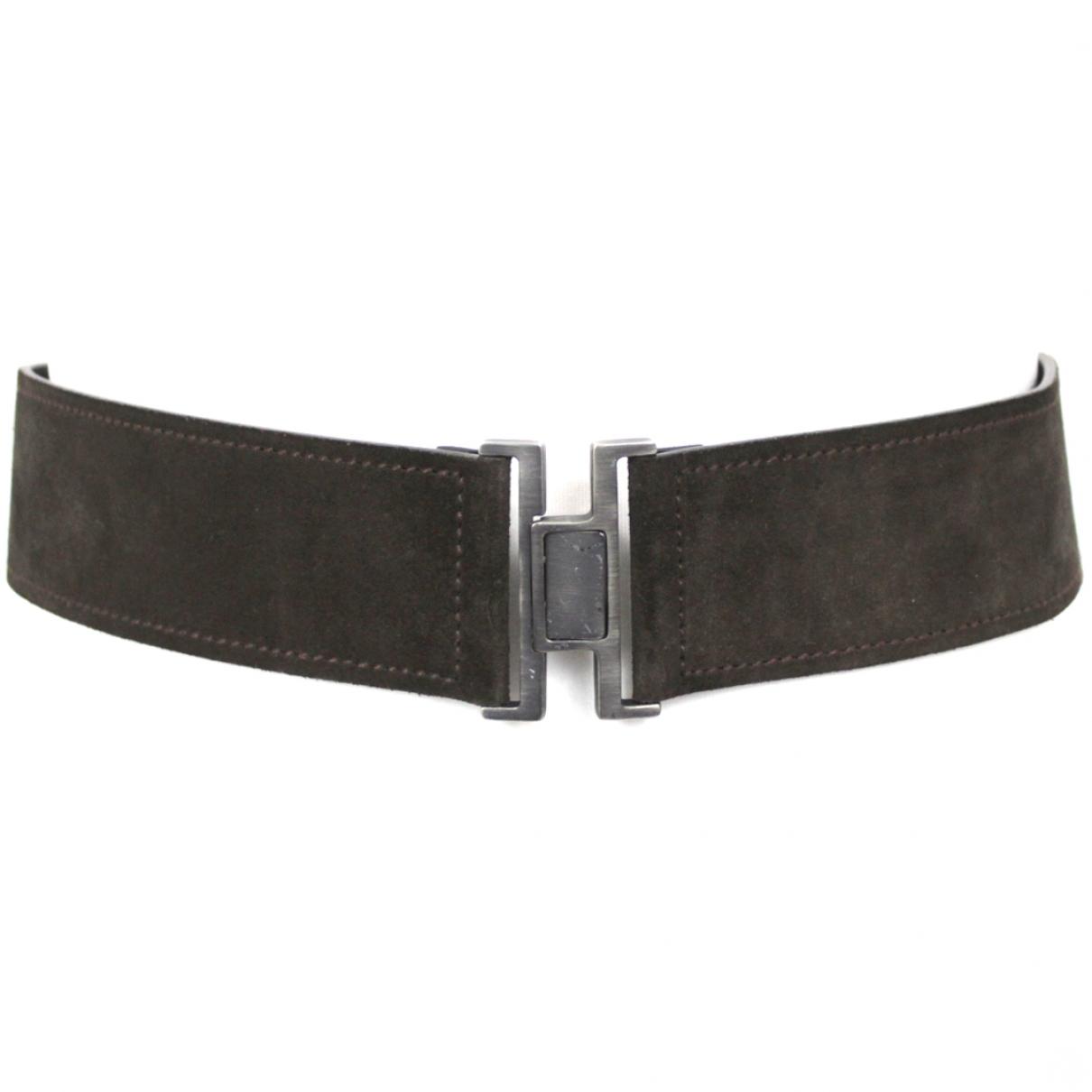 Yves Saint Laurent \N Brown Suede belt for Women 70 cm