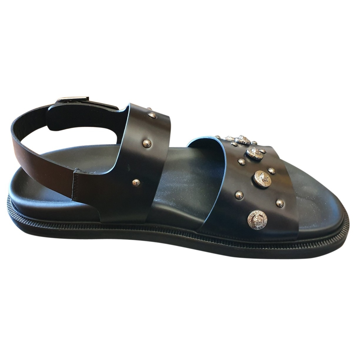 Versace \N Black Leather Sandals for Men 39 EU