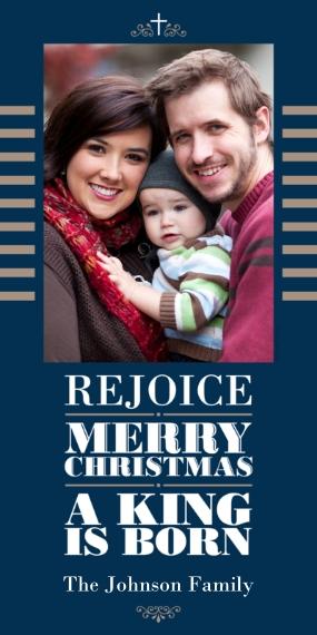 Religious Christmas Cards 4x8 Flat Card Set, 85lb, Card & Stationery -Modern Christmas Religious