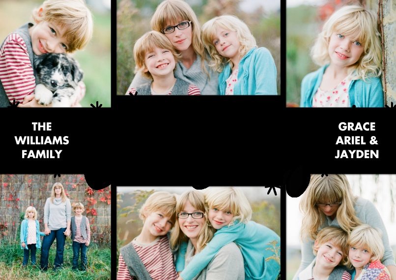 Christmas Photo Cards Set of 20, Premium 5x7 Foil Card, Card & Stationery -Christmas Foil Cheerful by Tumbalina