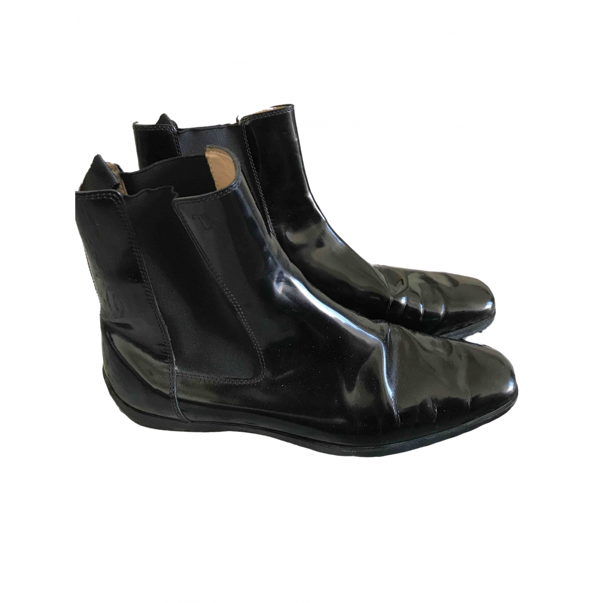 Tod's \N Black Patent leather Ankle boots for Women 41 IT