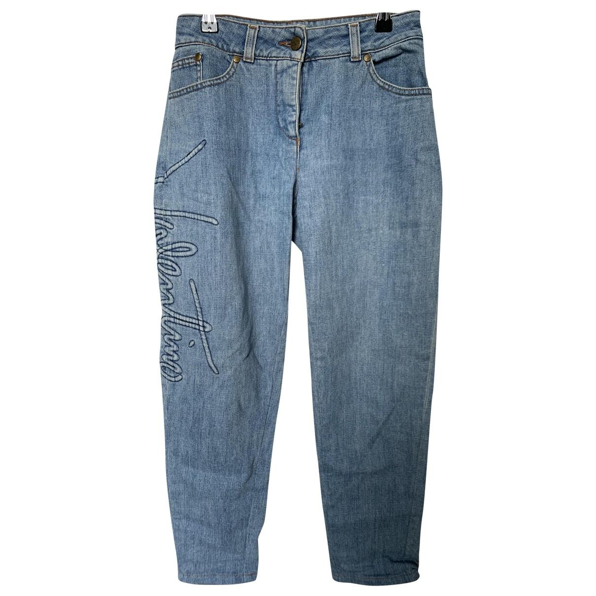 Valentino Garavani \N Blue Denim - Jeans Jeans for Women 34 FR