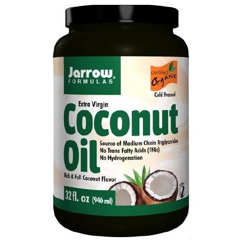 Coconut Oil 100% Organic Extra Virgin 32 OZ by Jarrow Formulas