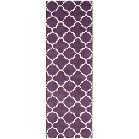 Safavieh Anna Geometric Hand Tufted Wool Rug, One Size , Purple