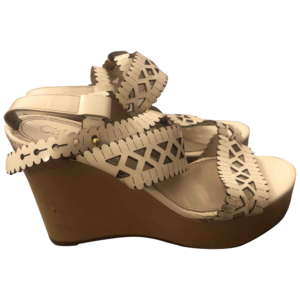Chloé \N Beige Leather Sandals for Women 37 IT