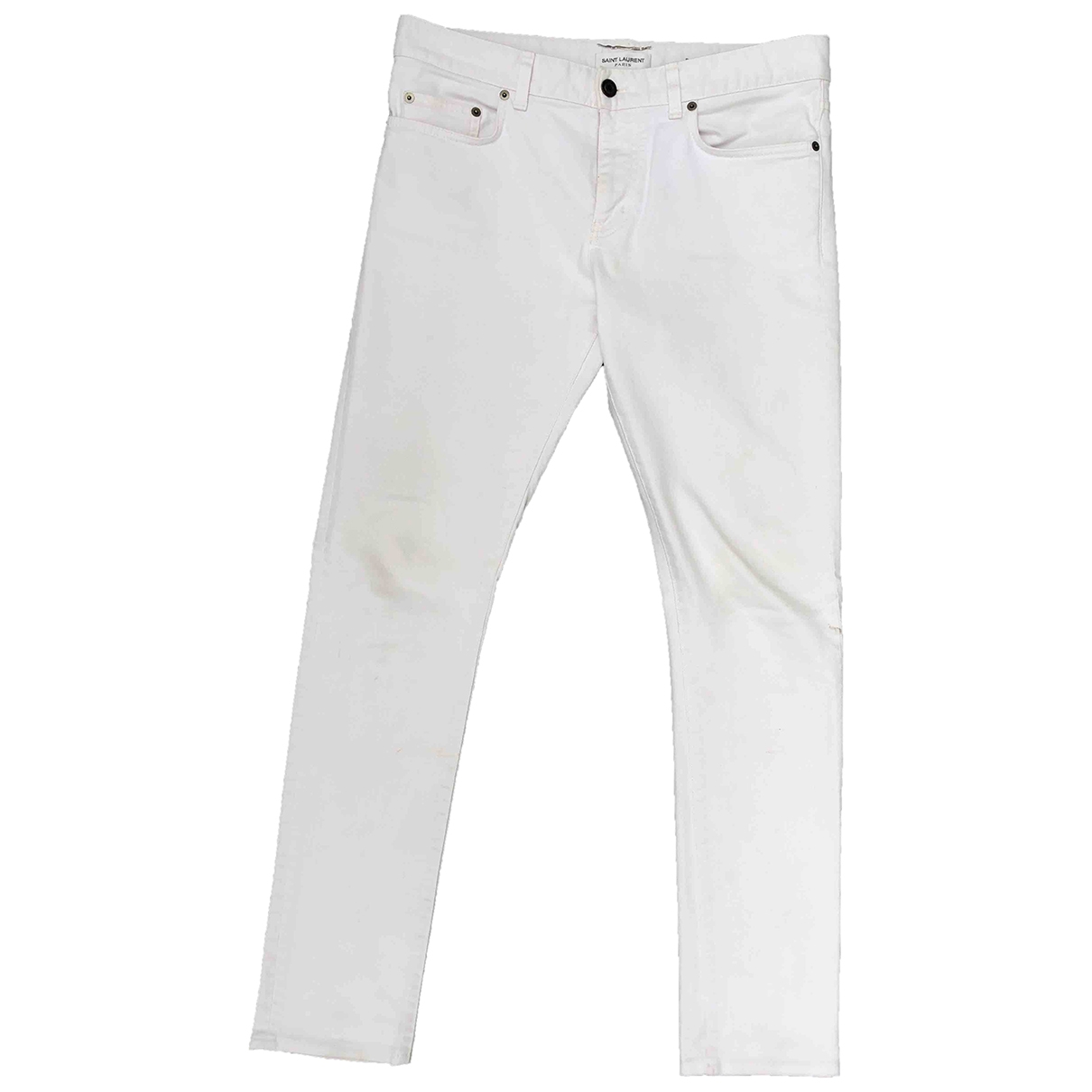 Saint Laurent \N White Cotton - elasthane Jeans for Men 32 US