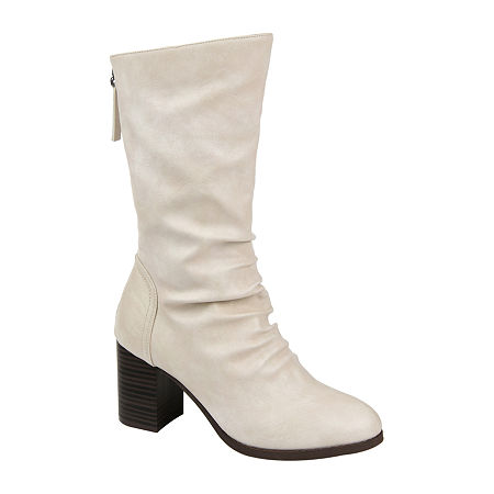 Journee Collection Womens Sequoia Slouch Boots Stacked Heel, 11 Medium, Gray