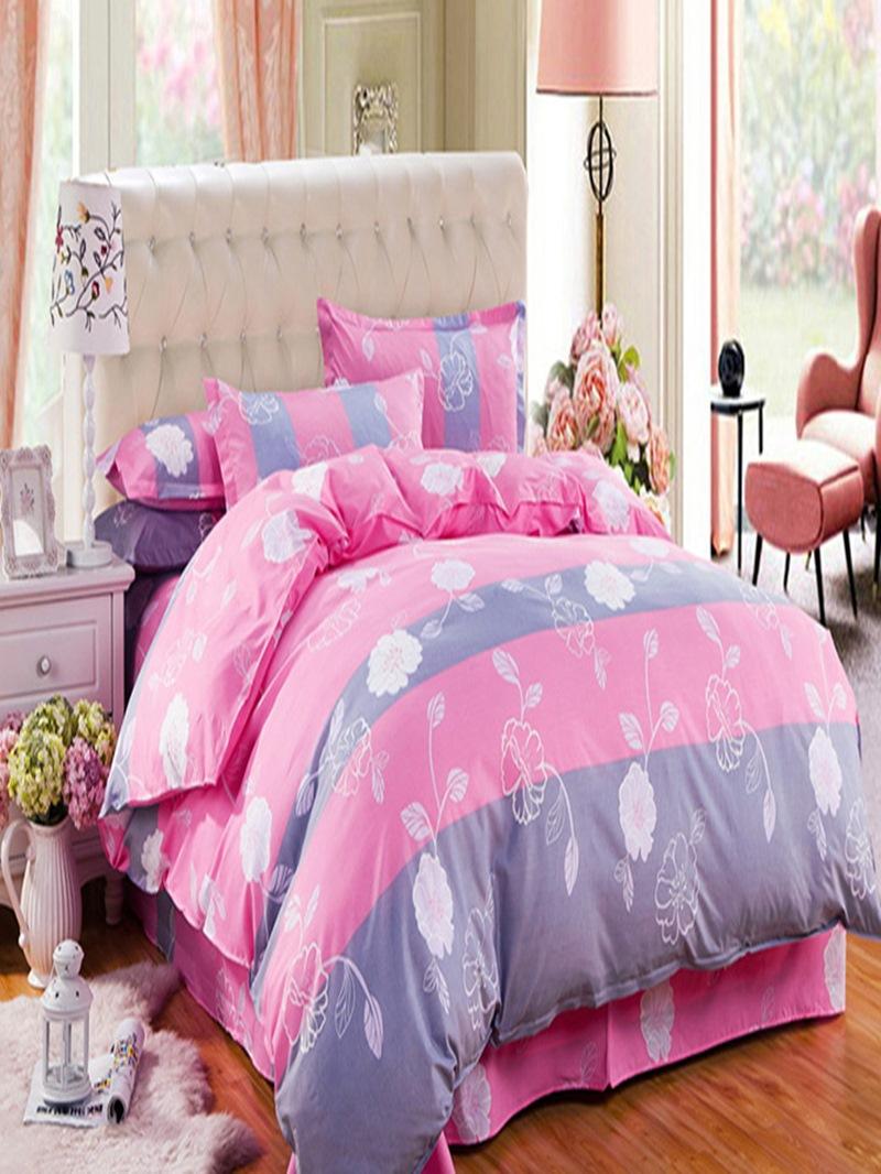 Vivilinen Cuddly Flowers Design Polyester 4-Piece Duvet Cover Sets