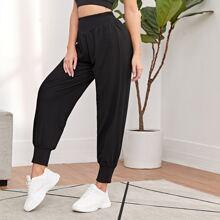 Wideband Waist Solid Sports Pants