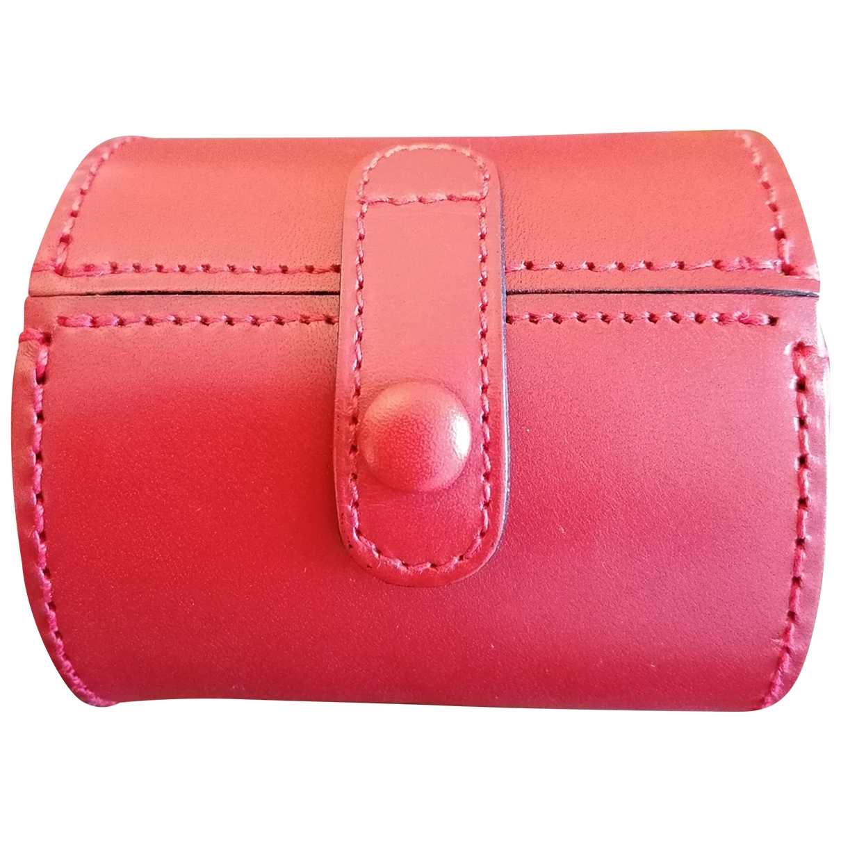 Non Sign?? / Unsigned \N Red Leather Purses, wallet & cases for Women \N