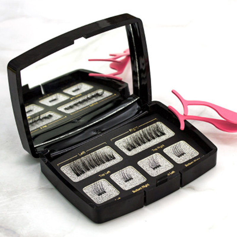 6Pcs Magnetic False Eyelash Set Lengthening Eyelash Acrylic Scorpion Eyelash Kit Eye Makeup