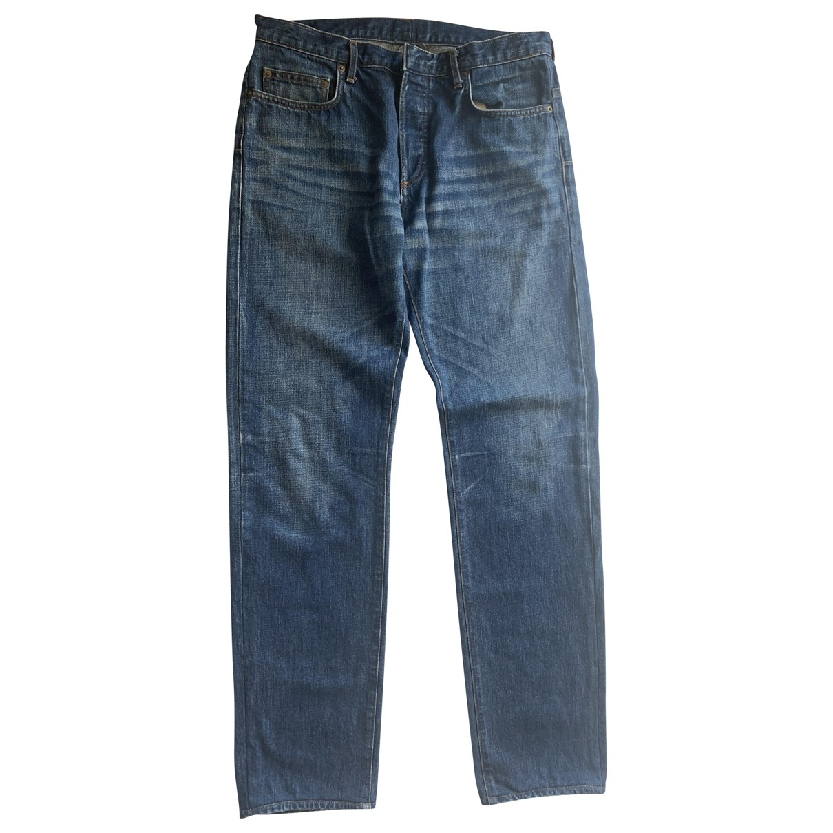 Dior Homme \N Navy Cotton Jeans for Men 34 US