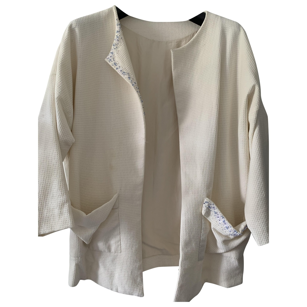 Non Signé / Unsigned \N Beige Cotton jacket for Women One Size FR