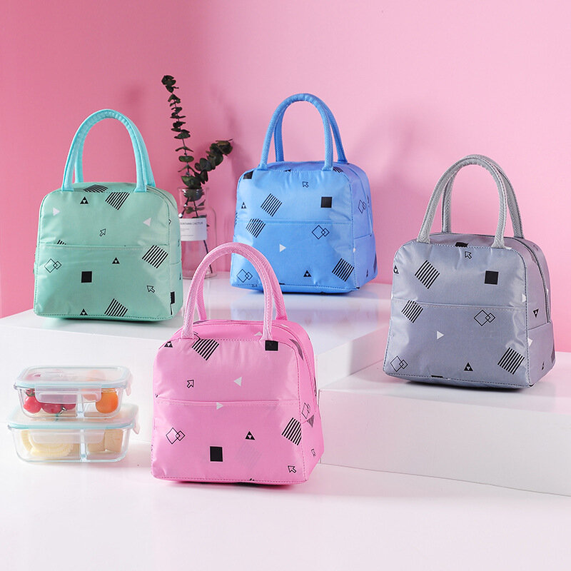 Insulation Cooler Waterproof Lunch Bag Thermal Oxford Food Storage Bag Picnic Container Tote Bag