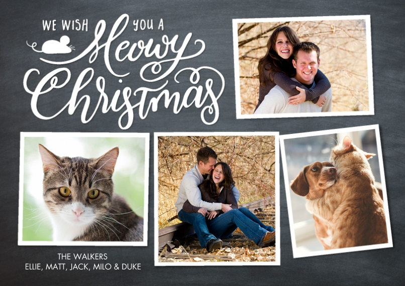 Christmas Photo Cards 5x7 Cards, Standard Cardstock 85lb, Card & Stationery -Christmas Merry Collage by Tumbalina