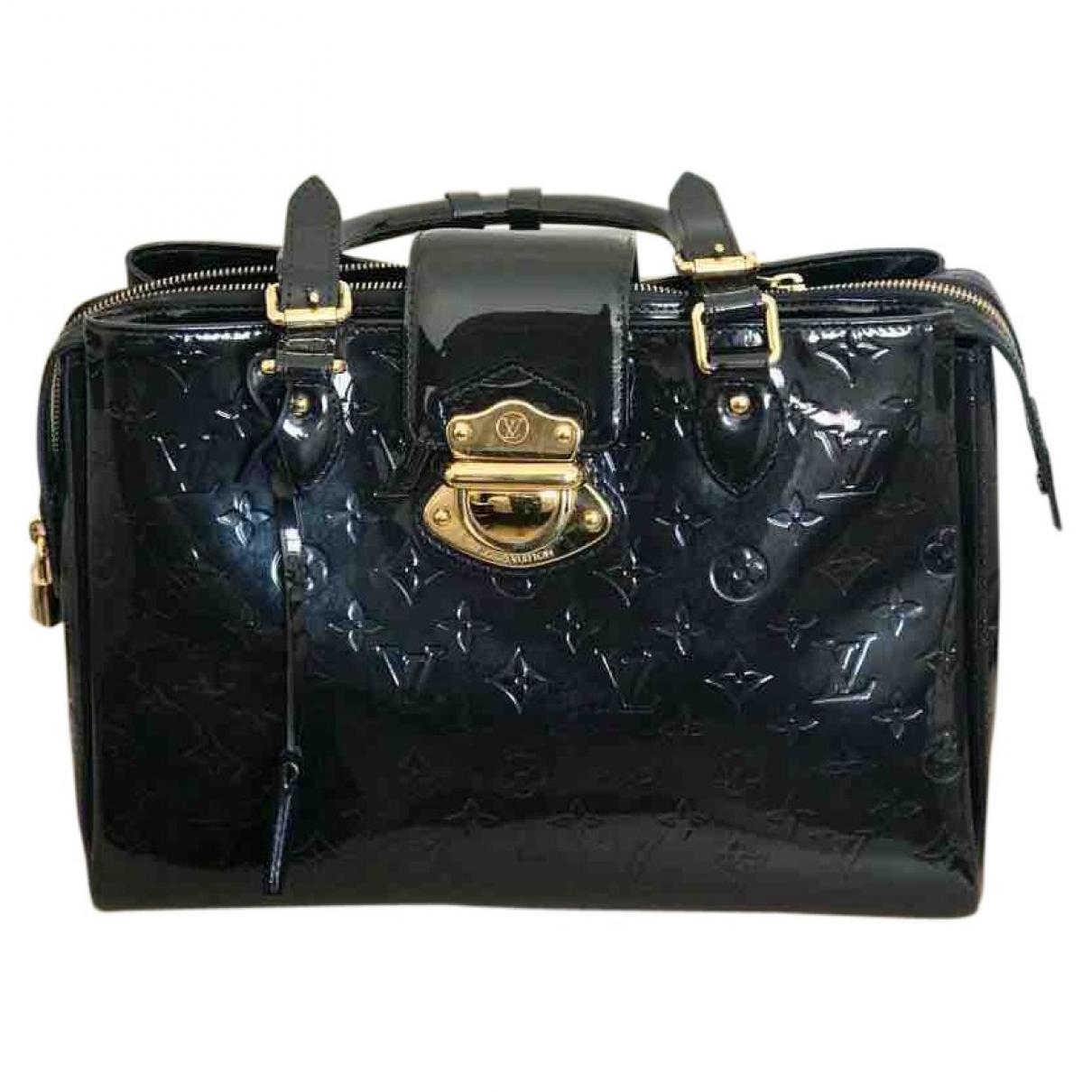 Louis Vuitton Melrose Navy Patent leather handbag for Women \N