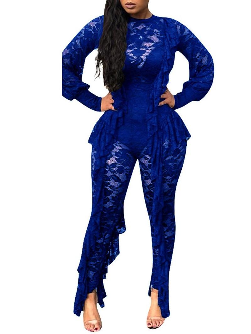 Ericdress Lace Full Length Plain Slim Fashion Jumpsuit