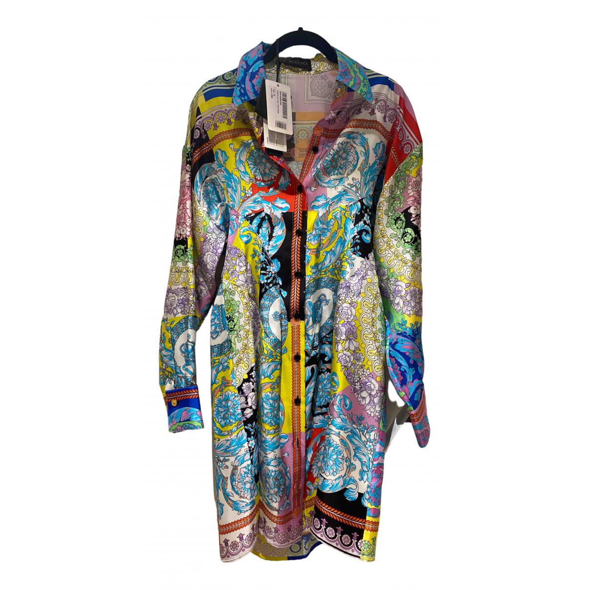 Versace \N Multicolour Silk dress for Women 40 IT