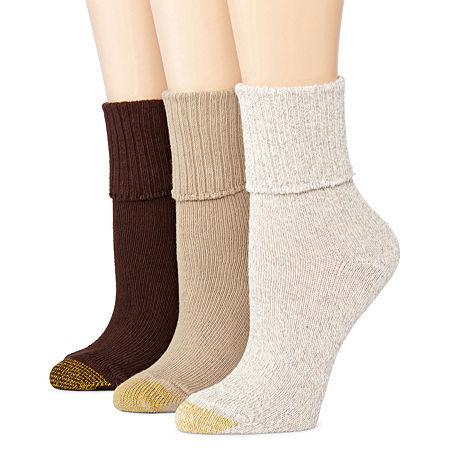 GoldToe 3-pk. Bermuda Casual Socks, One Size , No Color Family