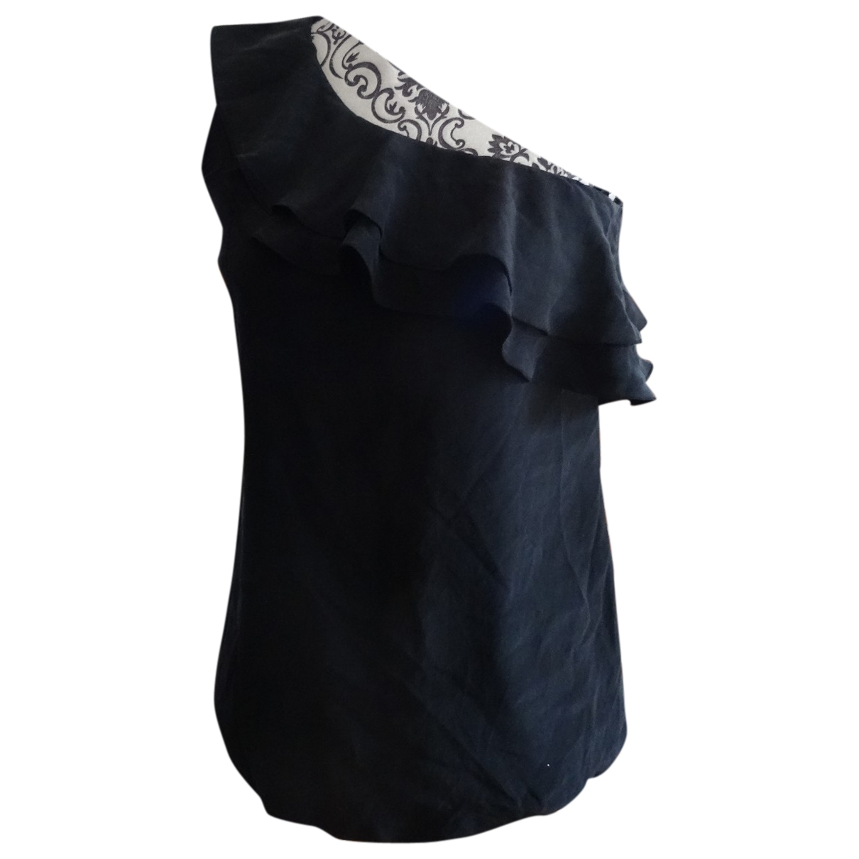Non Sign?? / Unsigned \N Black Silk  top for Women 36 FR