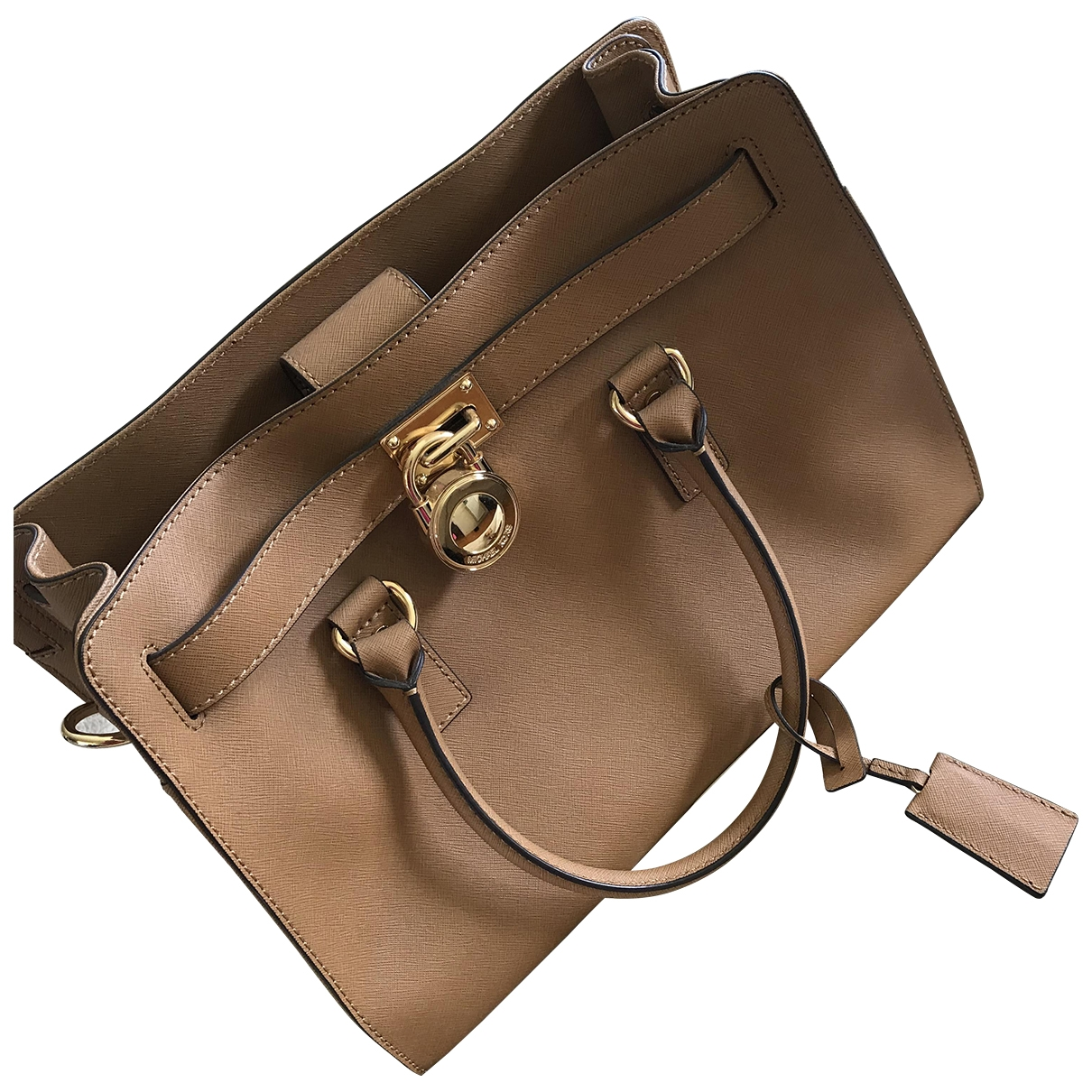 Michael Kors Hamilton Camel Leather handbag for Women \N