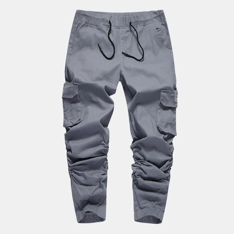 Men Cotton Casual Overalls Beam Feet Harem Pants