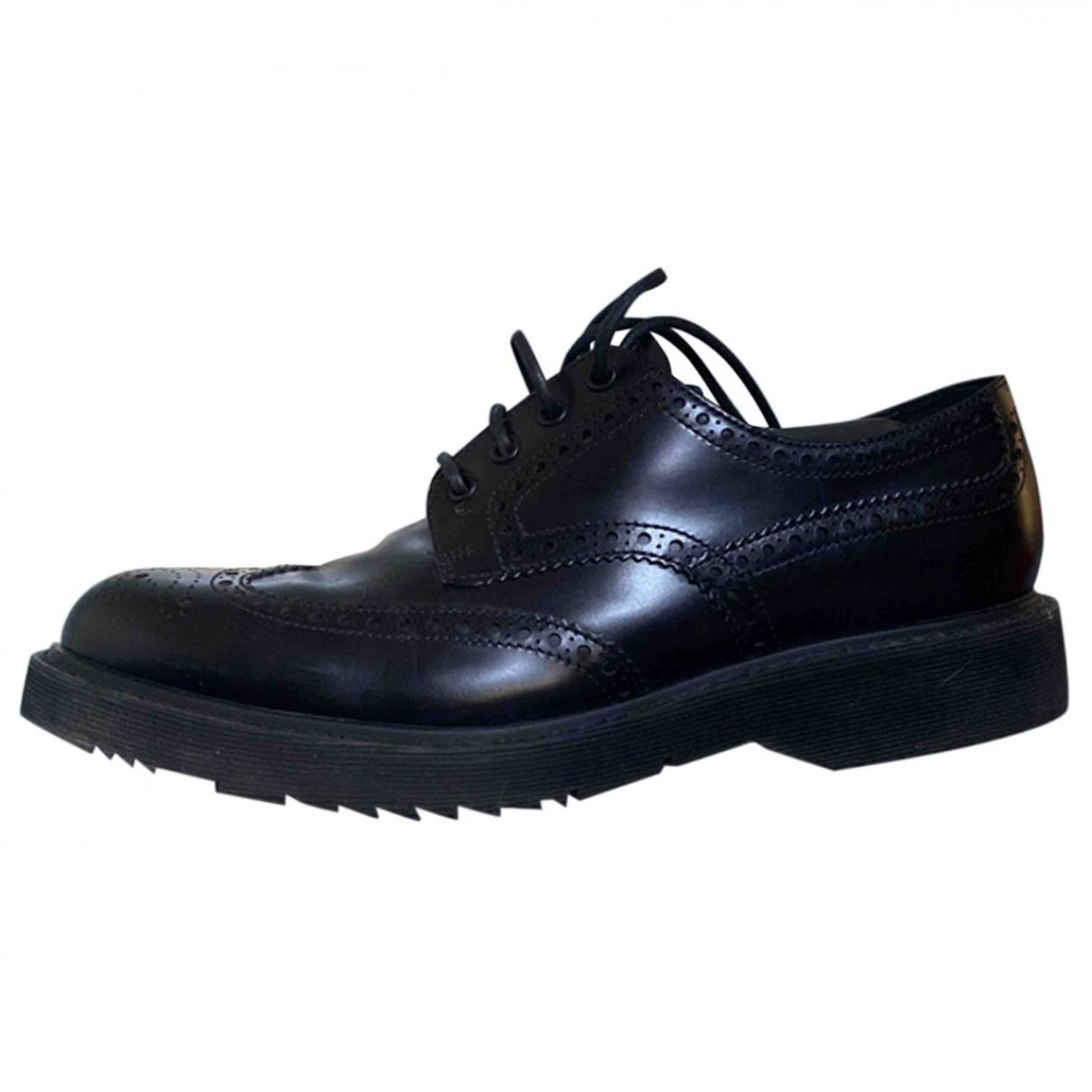 Prada \N Black Leather Lace ups for Men 42 EU
