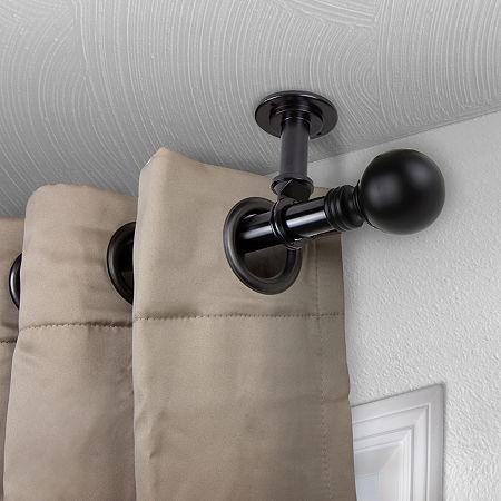 Rod Desyne Globe Ceiling Curtain Rod, One Size , Black