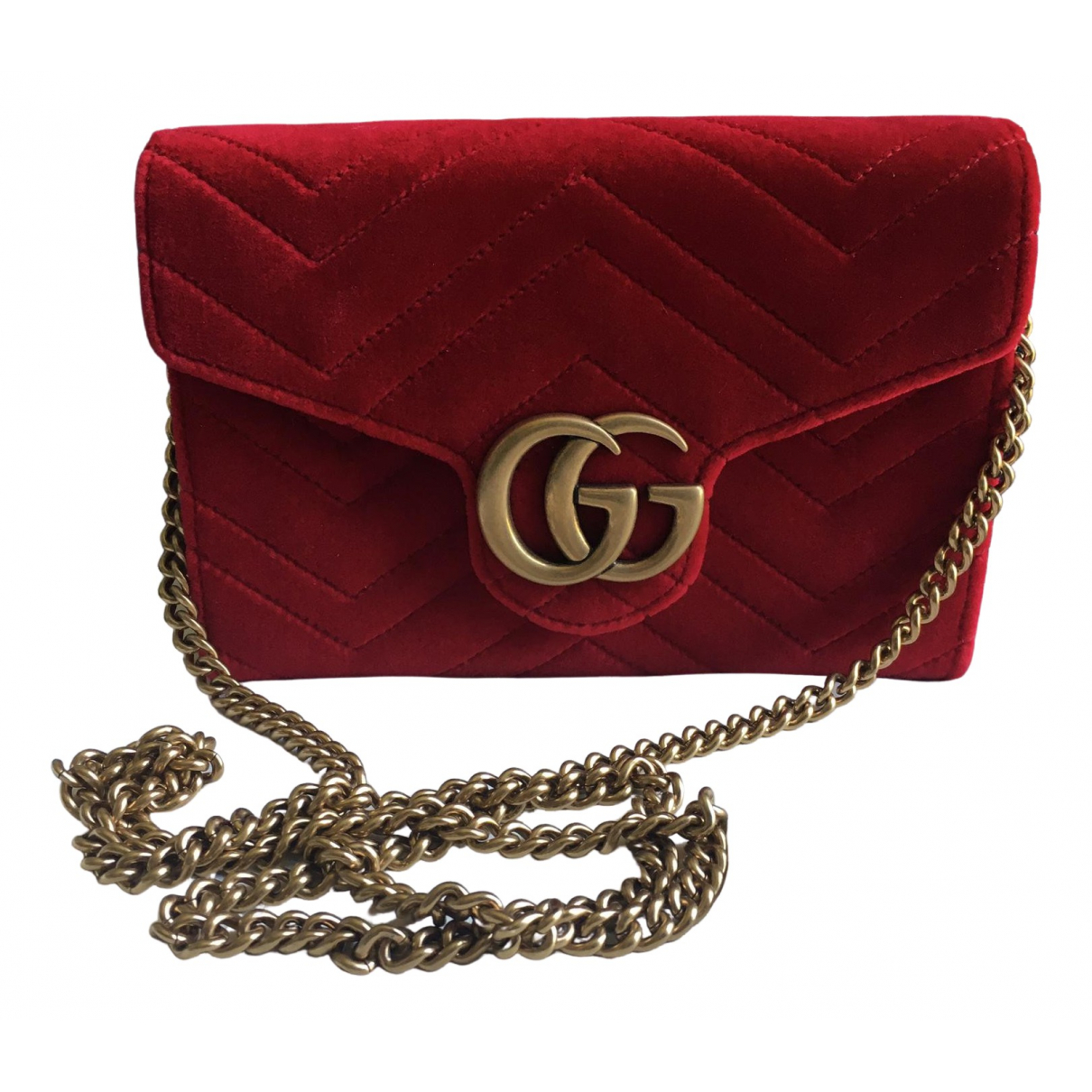 Gucci Marmont Red Velvet Clutch bag for Women \N