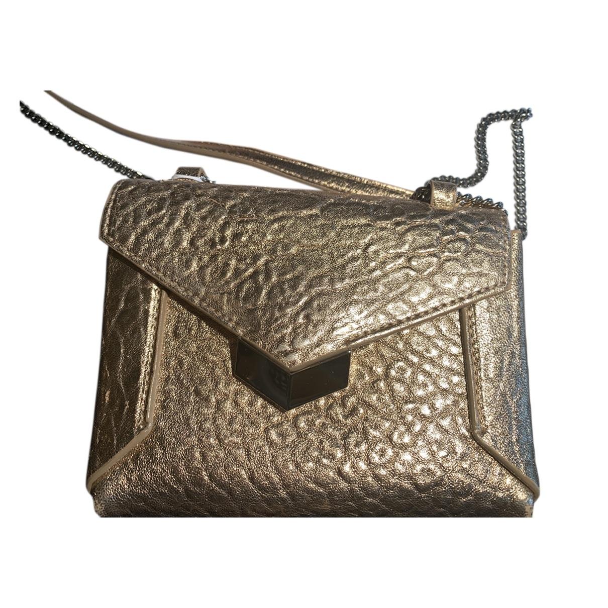 Jimmy Choo \N Gold Leather Clutch bag for Women \N