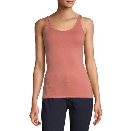 a.n.a Womens Scoop Neck Sleeveless Tank Top, X-large , Orange