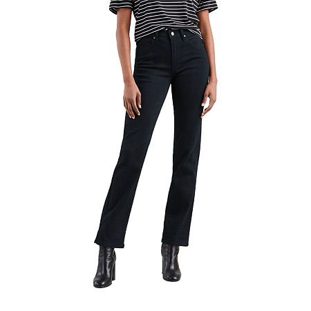 Levi's 724 High Rise Straight Jeans, 30 , Black