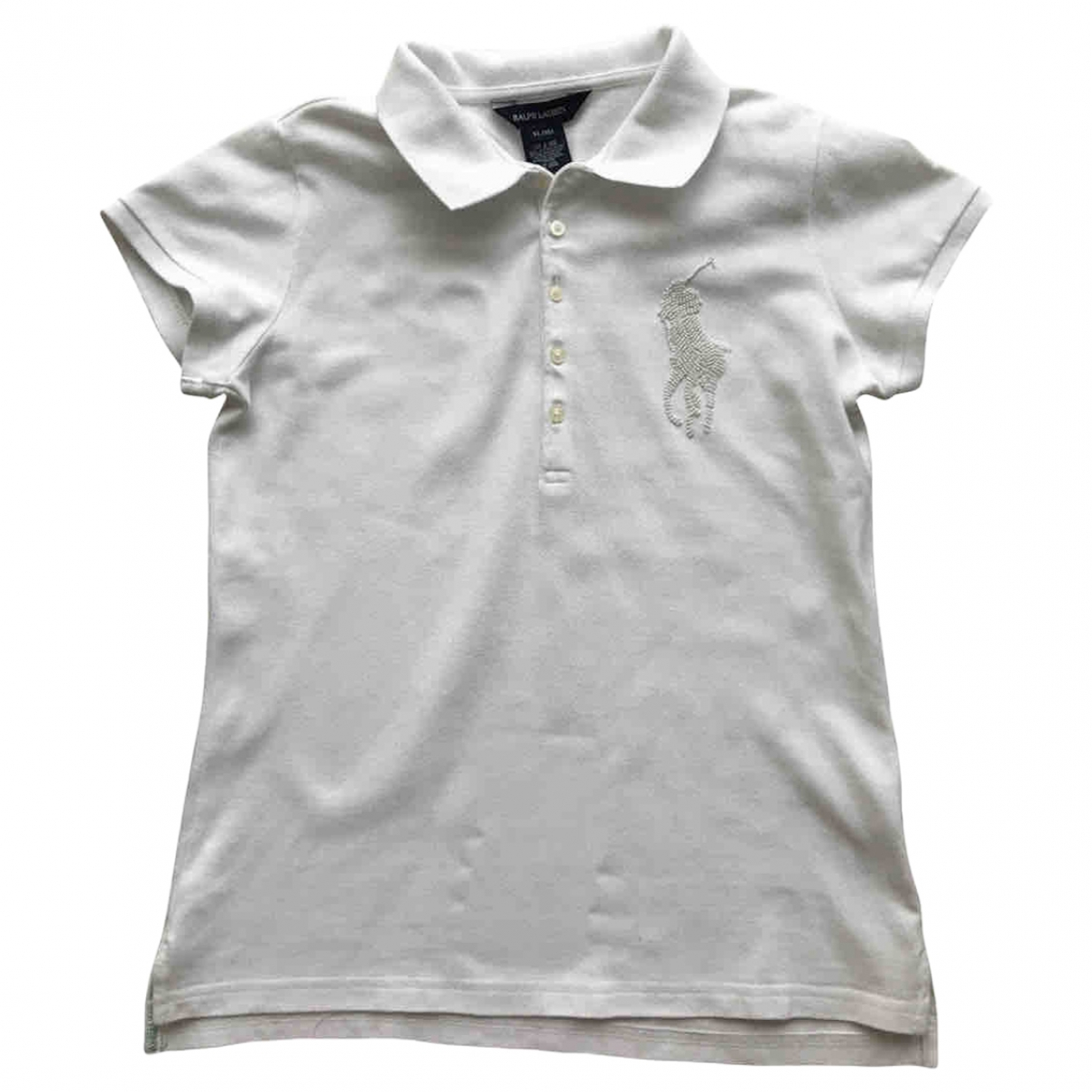 Polo Ralph Lauren \N White Cotton  top for Kids 16 years - M FR