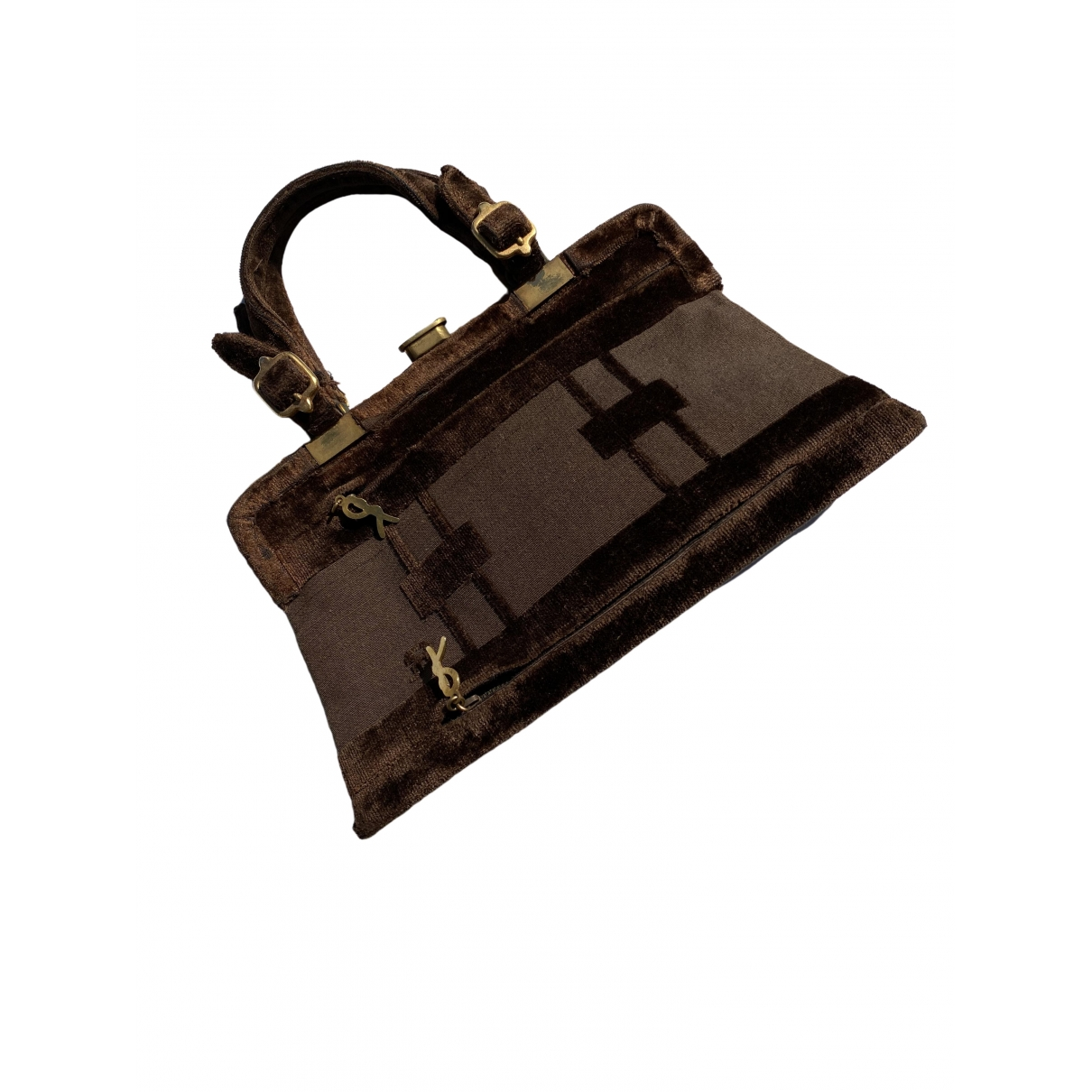 Non Signé / Unsigned \N Brown Velvet handbag for Women \N