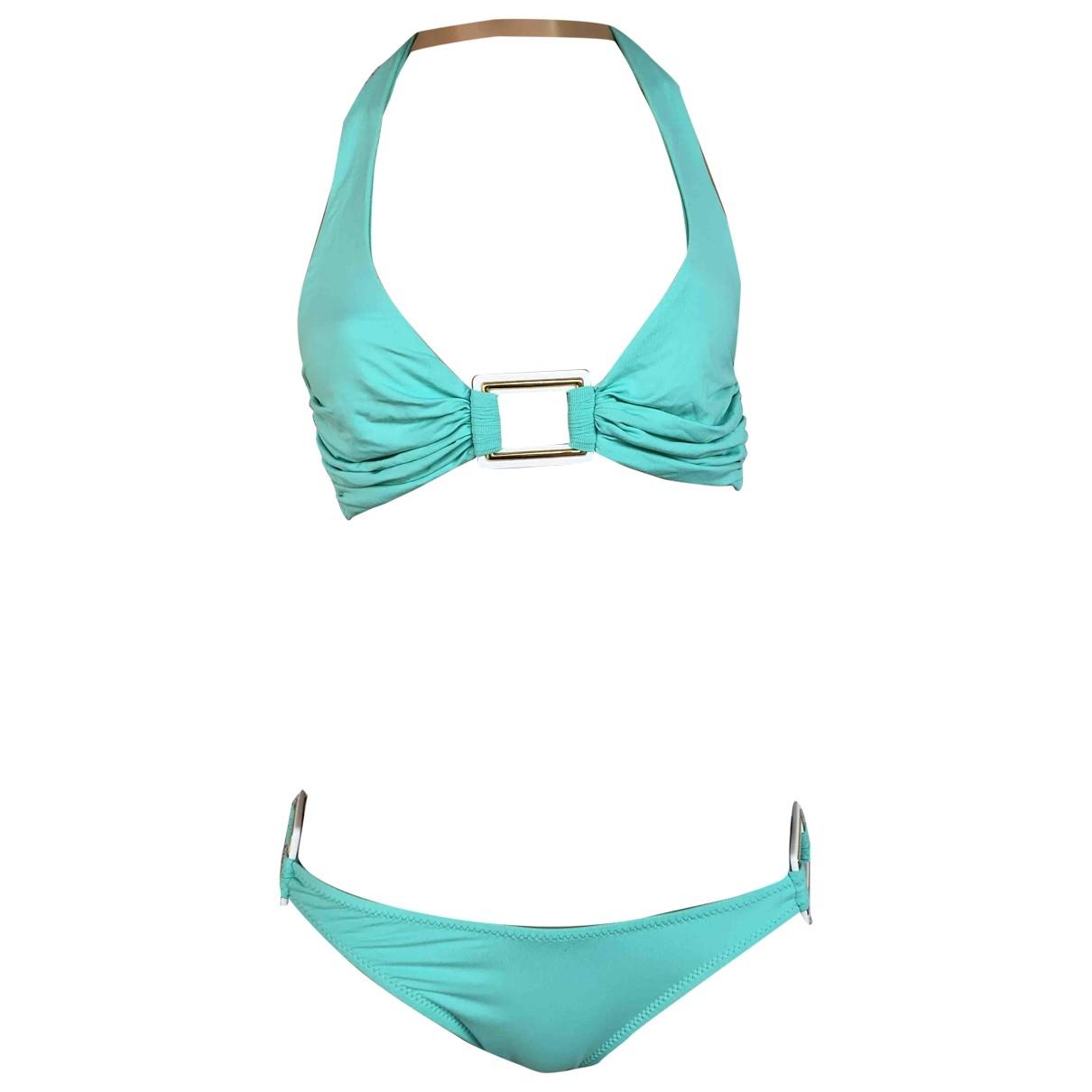 Melissa Odabash \N Blue Cotton - elasthane Swimwear for Women 8 UK